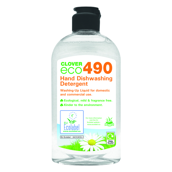 Clover ECO 490 Dishwashing Detergent 300ml (Pack of 6) 490