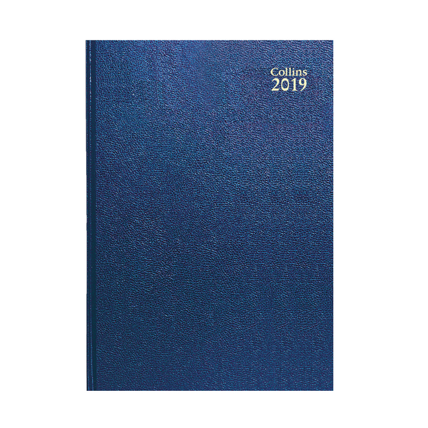Collins A5 Desk Diary Week to View 2019 Blue 35
