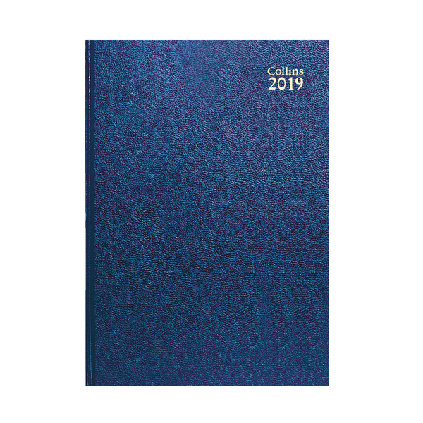 Collins A4 Desk Diary Week to View 2019 Blue 40