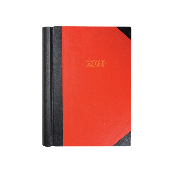 Collins A4 Desk Diary 2 Pages Per Day 2020 Black and Red 42