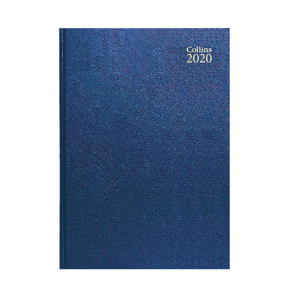 Collins A4 Desk Diary Day Per Page 2020 Blue 44