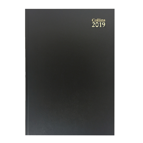 Collins Desk A4 Diary Two Pages Day 2019