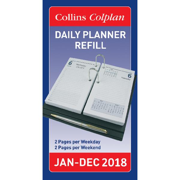 Collins Colplan 2018 Daily Desk Planner Refill CDPR