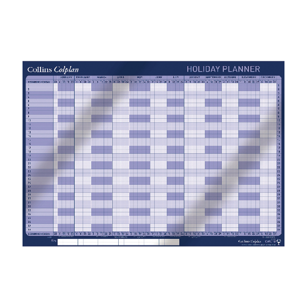 Collins Colplan Holiday Planner 2019 CWC10