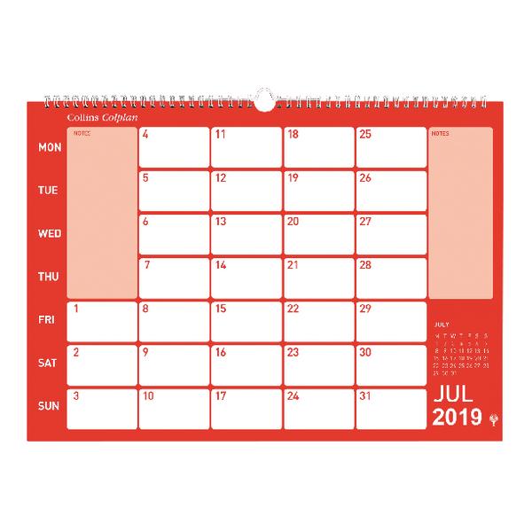 Collins Colplan 2019 Memo Calendar CMC
