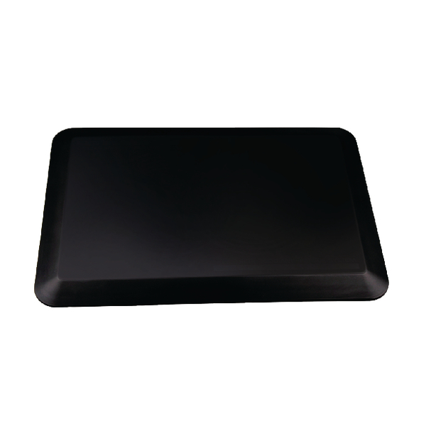 Image for Contour Ergonomics Anti-Fatigue Floor Mat 60x40cm Curl Proof Black CE01467 (0)