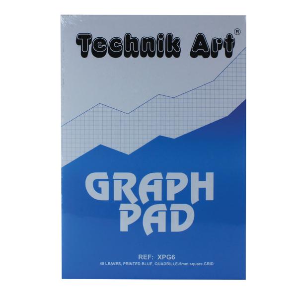 Image for Technik Art 5mm Quadrille Graph Pad A4 40 Leaf XPG6