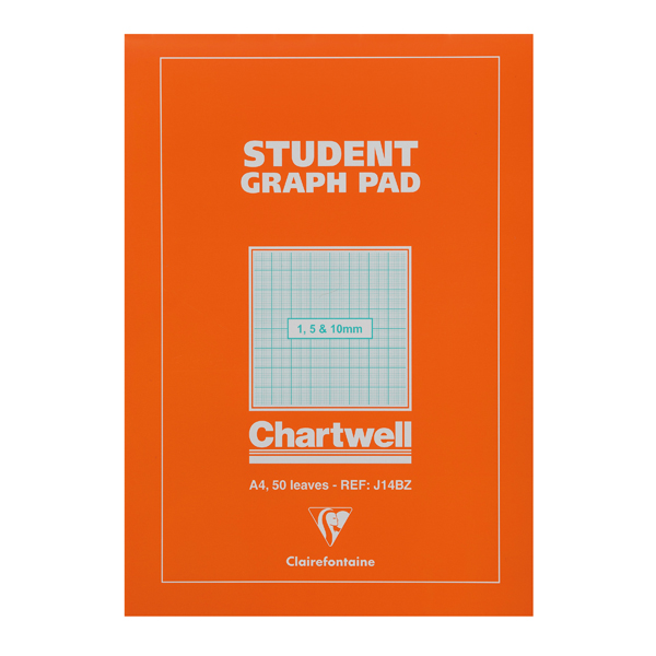 Image for Clairefontaine Chartwell 1/5/10mm Graph Pad A4 50 Leaf J14B