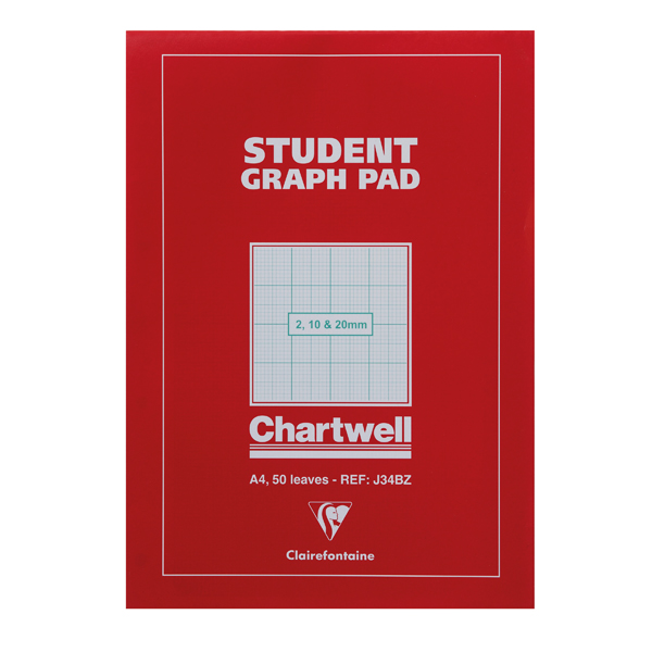 Image for Clairefontaine Chartwell 2/10/20mm Graph Pad A4 50 Leaf J34B