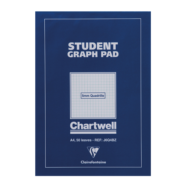 Image for Clairefontaine Chartwell 5mm Quadrille Student Graph Pad A4 J6Q4B