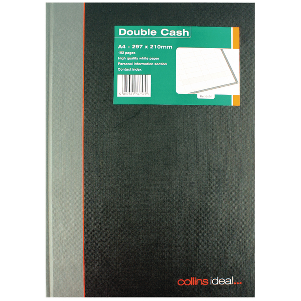 Image for Collins Ideal A4 Book Double Cash 192 Pages 6424 (0)