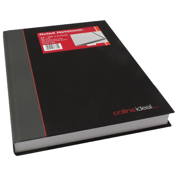 Collins Ideal Feint Ruled Casebound Notebook 384 Pages A4 6448