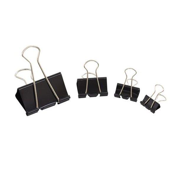 Initiative Foldback Clips 25mm Black Pack 10