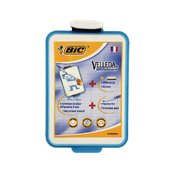 Image for Bic Velleda 190x260mm Blue Drywipe Board 841360