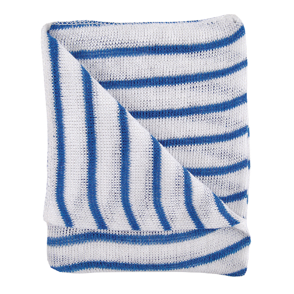 Blue and White Hygiene Dishcloths 16x12 Inches (Pack of 10) 100755BU