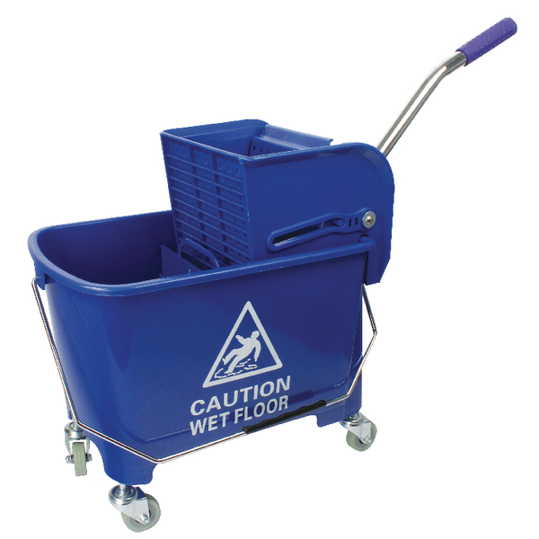 Blue Mobile Mop Bucket and Wringer 20 Litre 101248BU