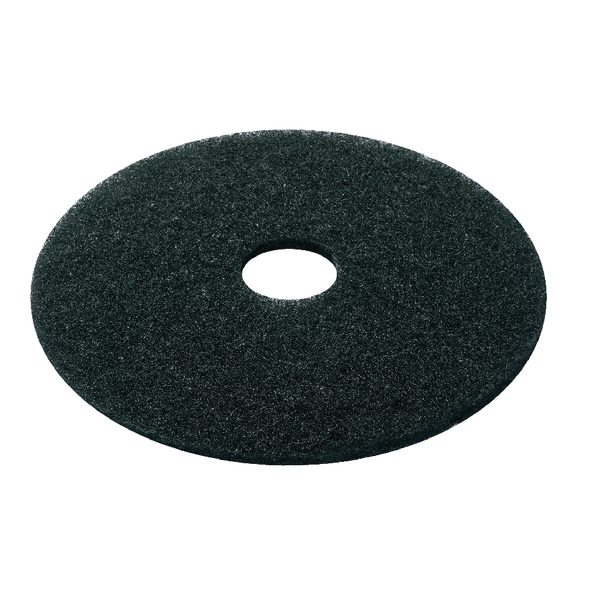 Black 15 Inch 380mm Floor Pad (Pack of 5) 2ndBK15