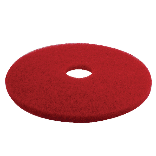 3M Red 17 Inch 430mm Floor Pad (Pack of 5) 2nd RD17