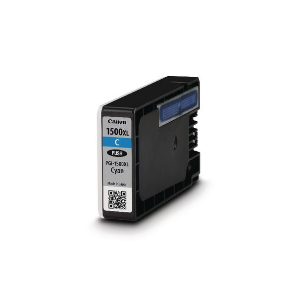 Canon PGI-1500XL High Yield Cyan Inkjet Cartridge 9193B001AA