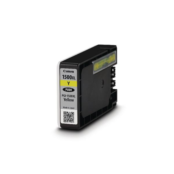 Canon PGI-1500XL High Yield Yellow Inkjet Cartridge 9195B001AA