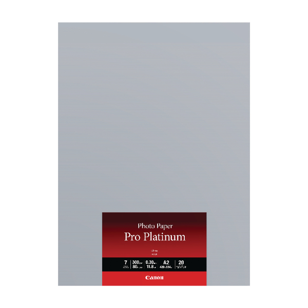 Canon A2 Photo Paper Pro Platinum 20 Sheets (Pack of 20) 2768B067