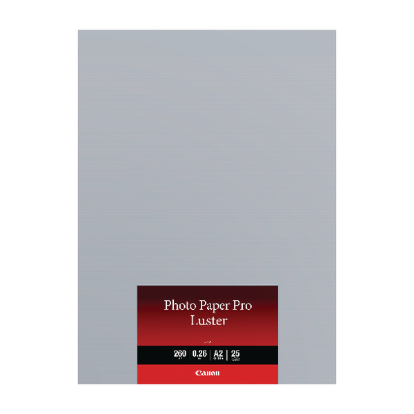 Image for Canon A2 Photo Paper Pro Luster 25 Sheets (Pack of 25) 6211B026