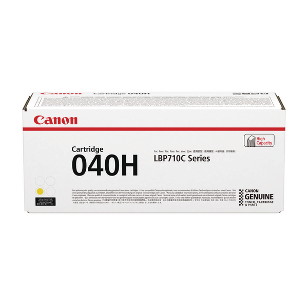 Canon 040H Yellow Toner Cartridge High Capacity 0455C001
