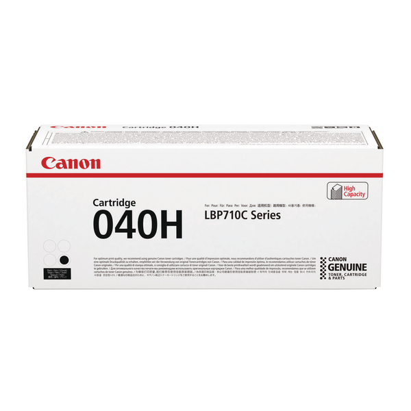 Canon 040H Black Toner Cartridge High Capacity 0461C001