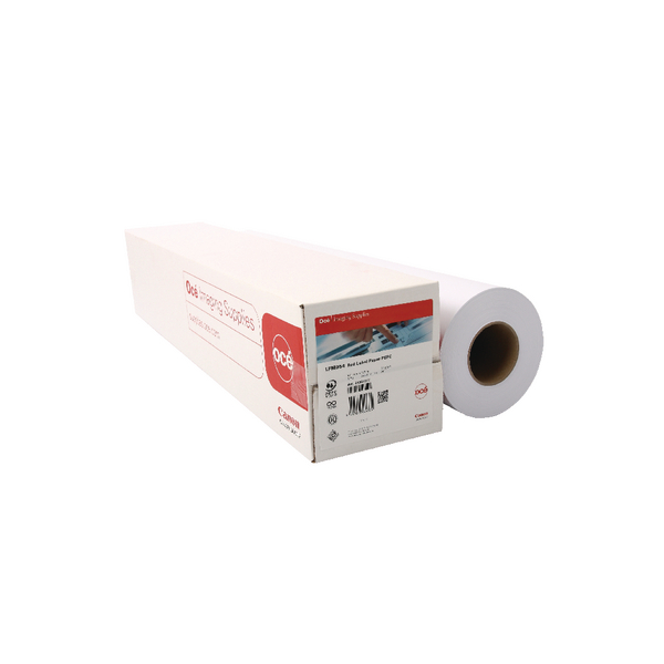 Canon Plain Uncoated Red Label Paper (Pack of 2) Rolls 594mmx175m 97003495