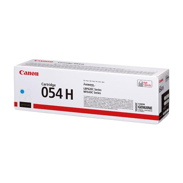 Canon 054 High Yield Laser Toner Cartridge Cyan 3027C002