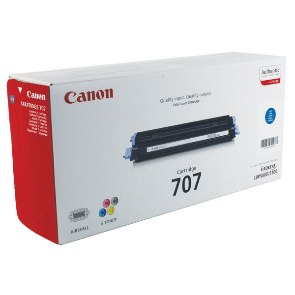Canon 707 C Cyan Toner Cartridge 9423A004