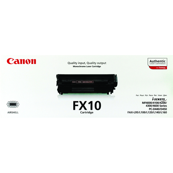Image for Canon FX-10 Black Toner Cartridge