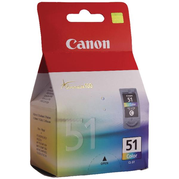 Canon CL-51 Colour Inkjet Cartridge 0618B001