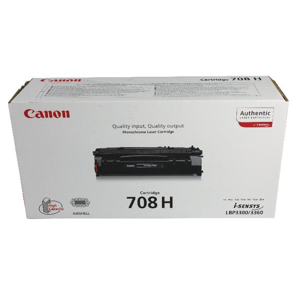 Canon 708H Black Toner Cartridge High Capacity 0917B002