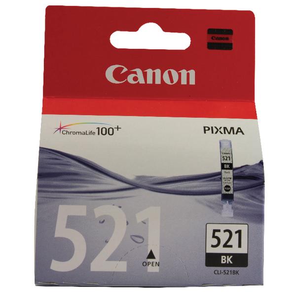 Canon CLI-521BK Black Inkjet Cartridge 2933B001