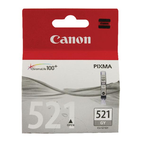 Canon CLI-521GY Grey Inkjet Cartridge 2937B001