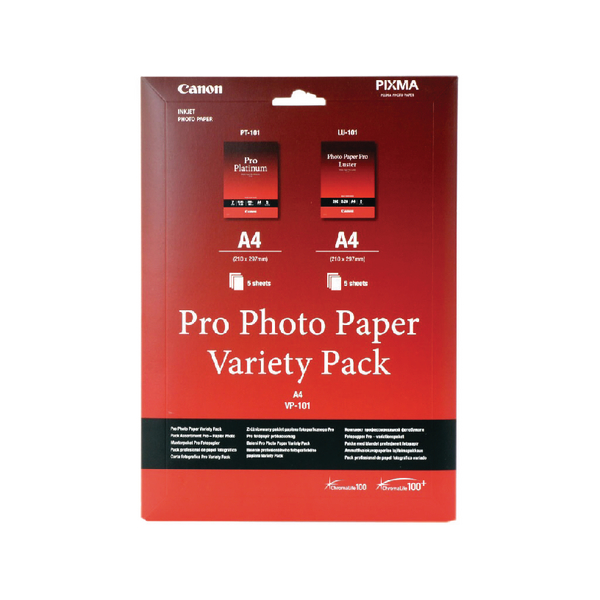 Canon Pro Photo Paper Variety (Pack of 10) VP-101
