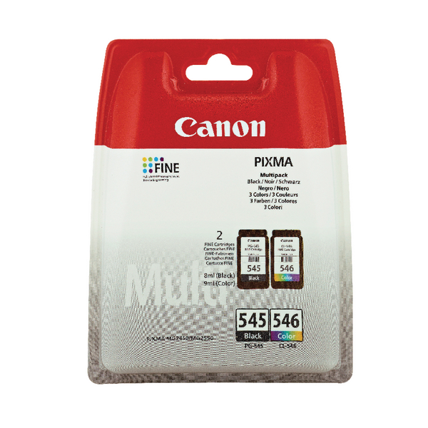Canon PG-545/CL-546 Black /Colour Inkjet Cartridges (Pack of 2) 8287B005