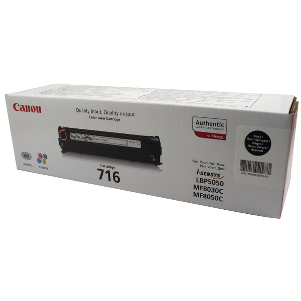 Canon 716BK Black Toner Cartridge 1980B002