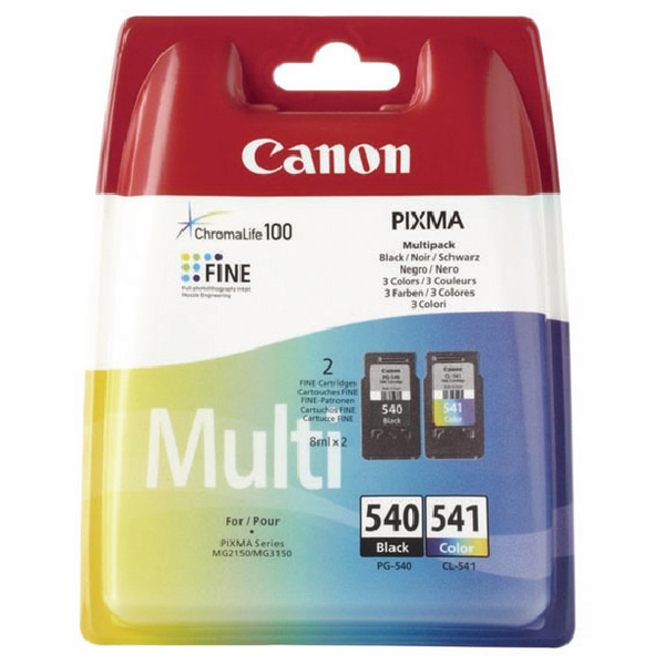 Canon PG-540XL/CL-541XL Inkjet Cartridges (Pack of 2) 5222B013