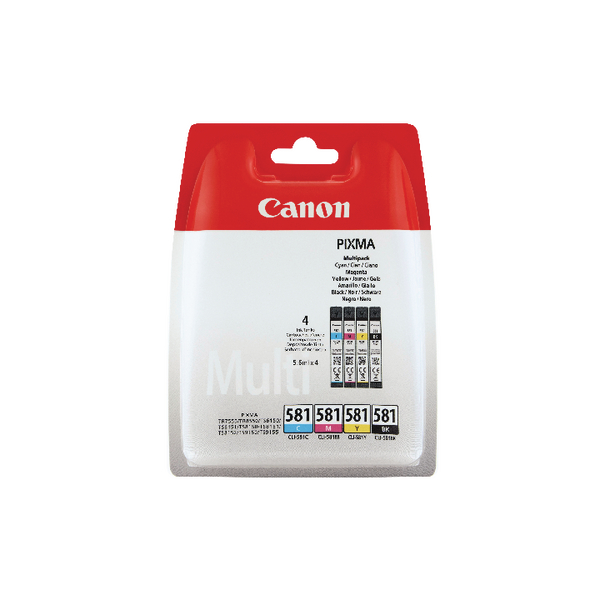 Canon CLI-581 Cyan/Magenta/Yellow/Black Ink Cartridge Multi Pack 2103C004