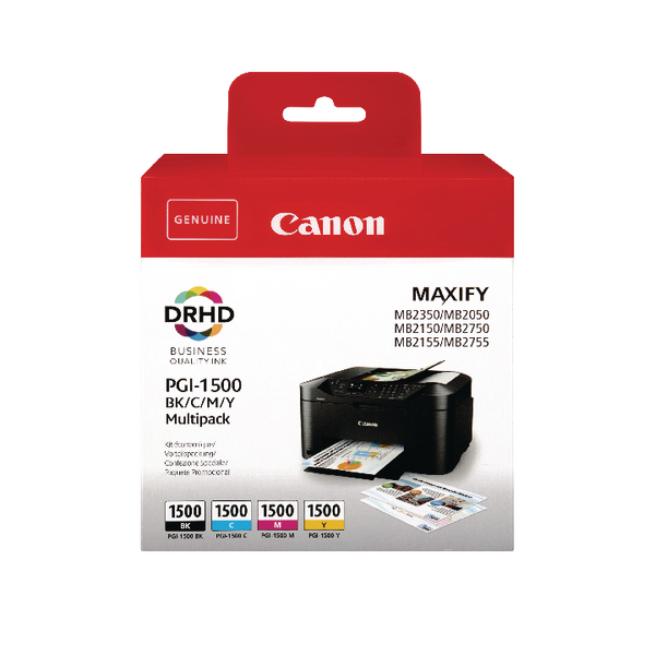 Canon PGI-1500 BCMY Ink Cartridge Multi Value (Pack of 4) 9218B005