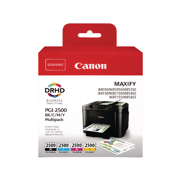 Canon PGI-2500 BCMY Ink Cartridge Multi Value (Pack of 4) 9290B004
