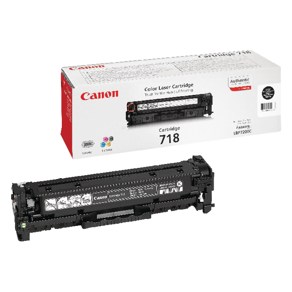 Canon 718VP Black Toner Cartridges Twin Value Pack 2662B005