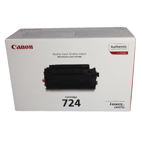 Canon 724 Black Toner Cartridge 3481B002