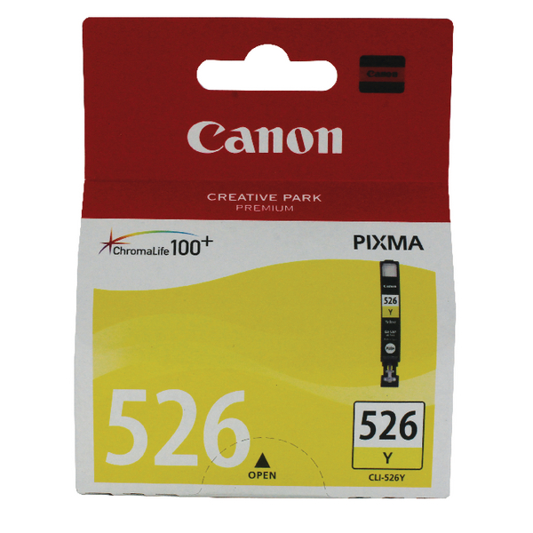 Canon CLI-526Y Yellow Inkjet Cartridge 4543B001