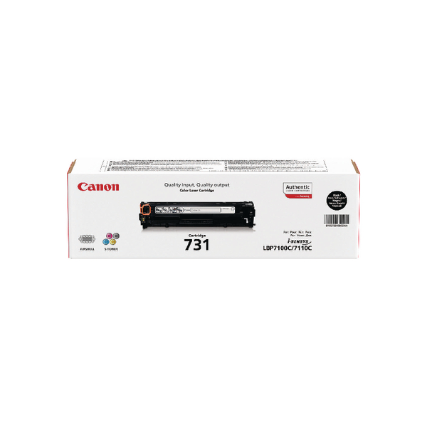 Canon 731BK Black Toner Cartridge 6272B002