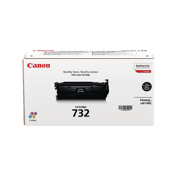 Canon 732H Black Toner Cartridge High Capacity 6264B002