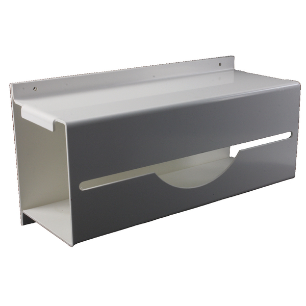 White Wall Mounted Apron on a Roll Dispenser GE/PARD
