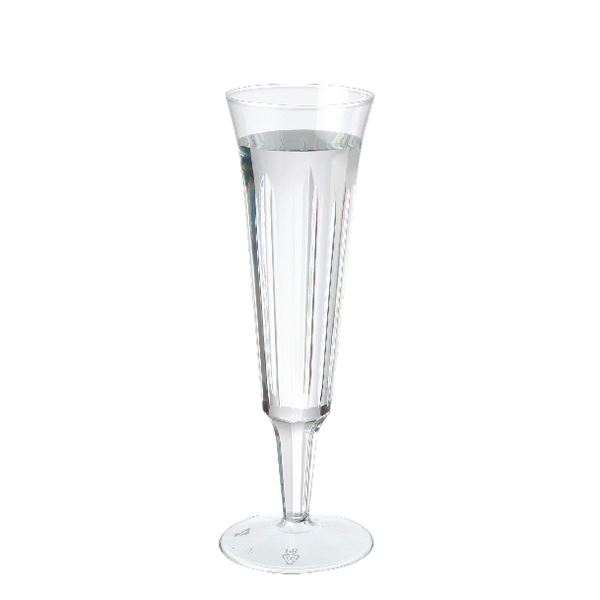 Plastic Champagne Glasses Clear (Pack of 10) C7025A